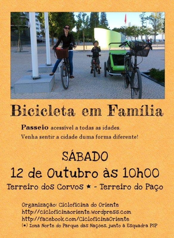 Passeio Bicicleta em Familia, Sábado 12 de Outubro