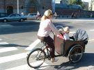 Copenhaga, 2005: muitas bicicletas de carga com 3 rodas